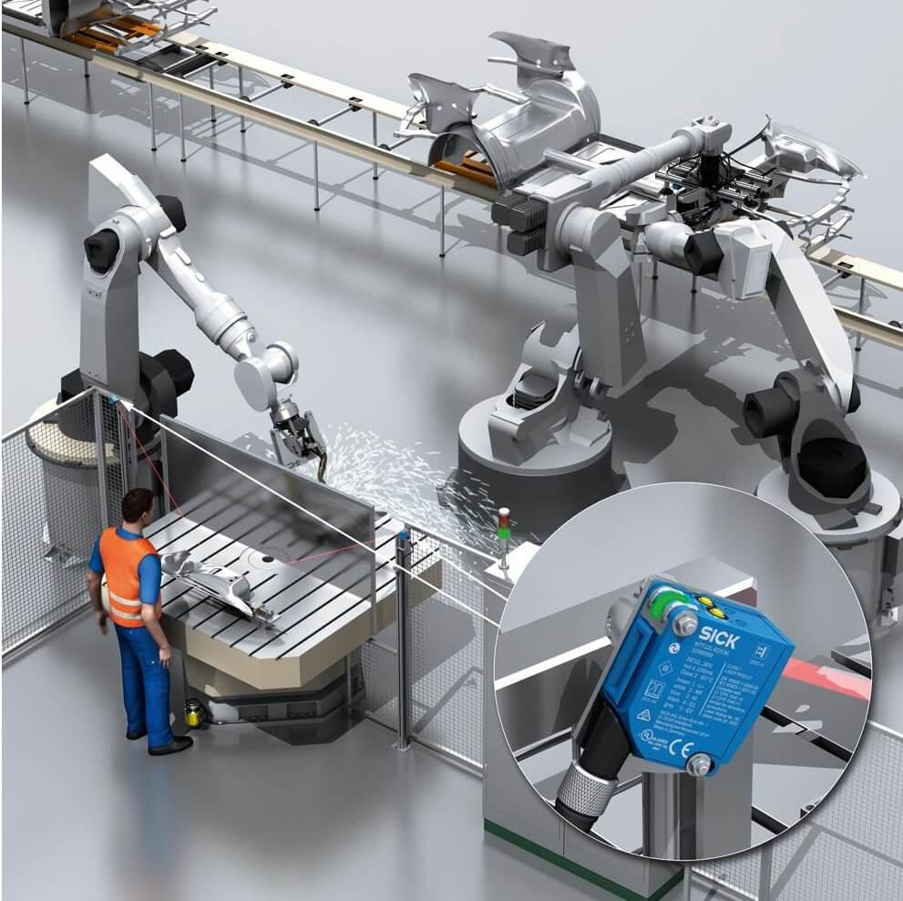 calidad del producto industrial robotica y detección